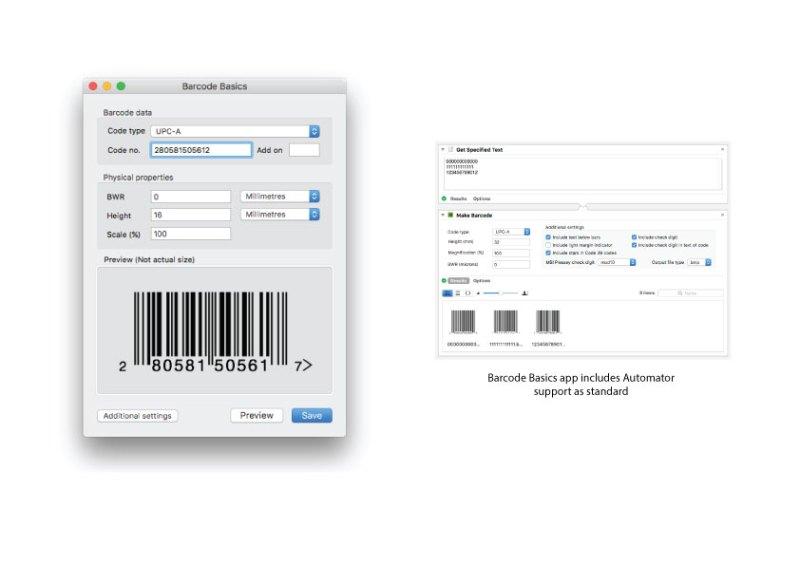 macOS barcode software screenshot