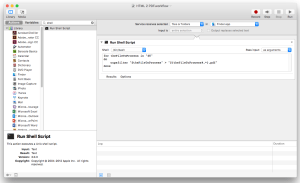 Run Shell Script options