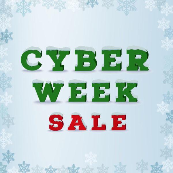 Cyber Week Specials 15% Off!!