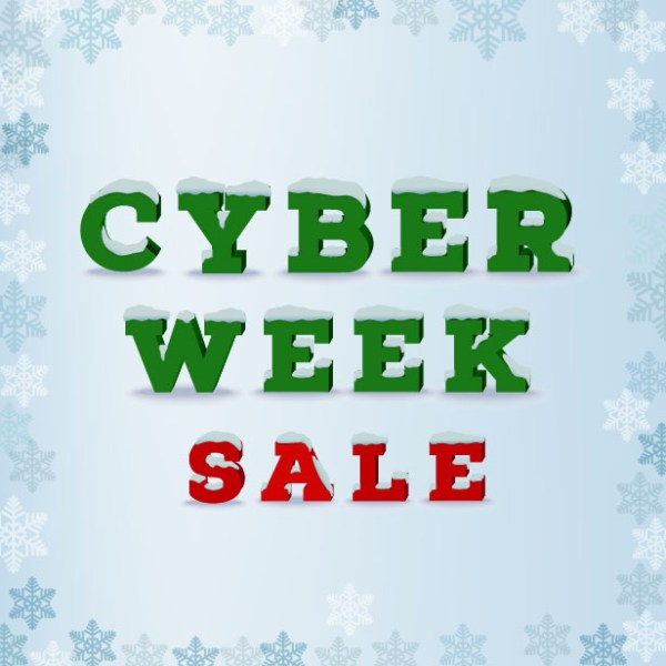 Cyber Week Specials 15% Off!!