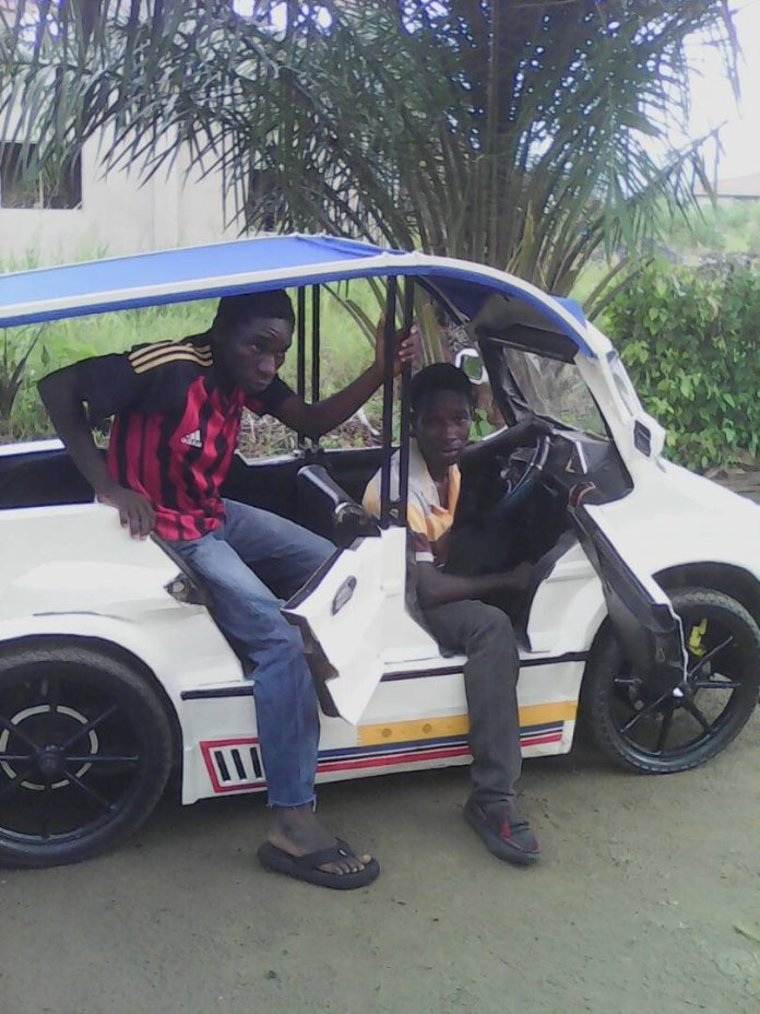 Two Young Ghanaian Brothers In Koforidua Have Built A Three-Seater Car