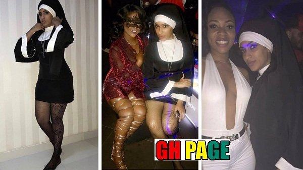 Juliet Ibrahim dressed as sexy catholic nun for a party sparks uproar on social media [Photos]