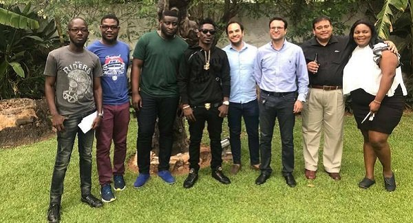 Beef Company, Boss Baker Beef Roll Signs Shatta Wale [Photos]