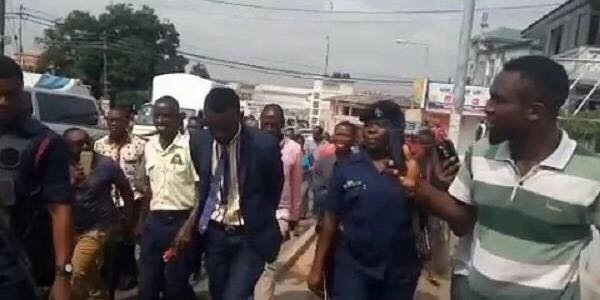 Video: Police Arrest Alleged 'Sakawa' Man After Trying To Withdraw Money From A Bank