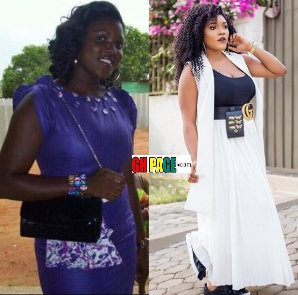 The before and after bleached photo of A-Plus' wife, Akosua Vee pops up on Social Media