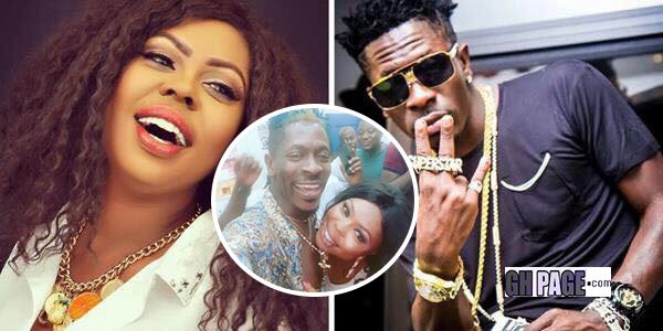 Afia Schwarzenegger is seen resting her head on Shatta Wale's chest and it causes a stir on social media (Photo)
