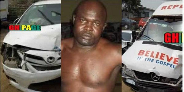 Bukom Banku's Car Involved In An Accident, Several Injured (photo)