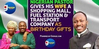 Video: Nigerian Pastor Gives His Wife A Shopping Mall, Fuel Station And Transport Company As Birthday Gift