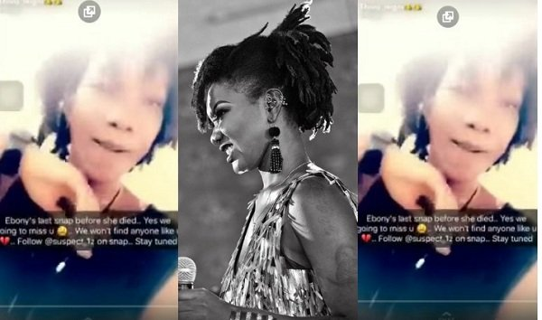 Video: Ebony's Last Post On Snap Chat Saw Her Singing To Stonebwoy's I Know You Will Miss Me