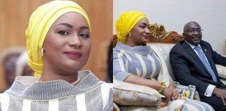 "Photos: Samira Bawumia Illuminates In Exceptional Dress She Wore To ""SONA"""