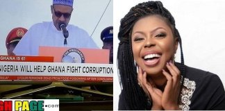 Afia Schwarzenegger Blasts President Buhari Over Corruption Statement