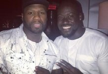 Chris Attoh 'Chills' With American Rapper 50cent And Other Celebrities On A Movie Set