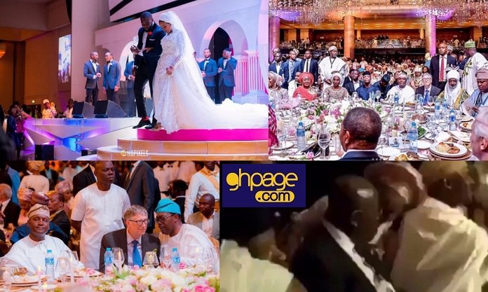 Photos: Nana Addo, Bill Gates & other millionaires attend Dangote's daughter's grand white wedding