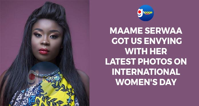 Maame Serwaa got us envying with her latest photos on International Women's Day(Photos)