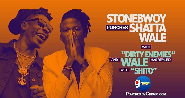 Listen Up!: Stonebwoy Punches Shatta Wale With 'Dirty Enemies' & Wale Has Replied With 'Shito'