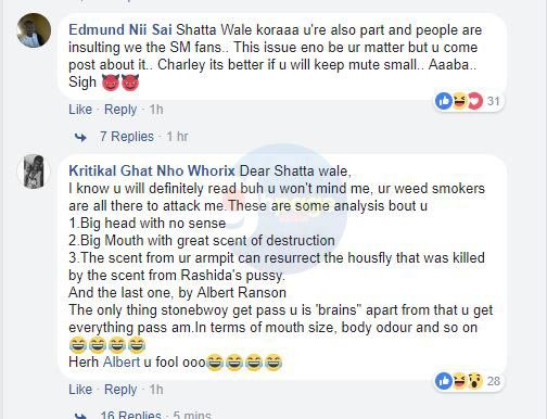 Bhim Nation fans tears Shatta Wale apart over Kumi Guitar's diss song to Stonebwoy