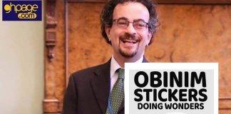 """I stuck Obinim sticker on my head last night; I woke up with two heads, no brain"" - Jon Benjamin"