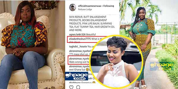 Maame Serwaa under attack for her looks and fashion sense in latest photo
