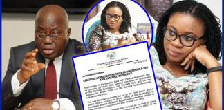Just In: President Akufo-Addo fires EC chairperson Mrs. Charlotte Osei and her two Deputies