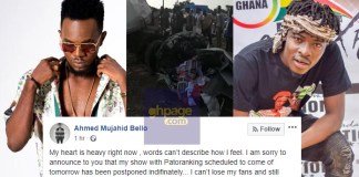 Video: Fancy Gadam cancels show with Patoranking after fatal accident