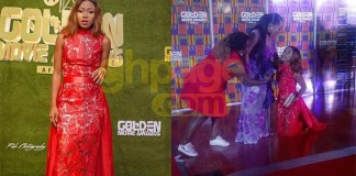 Video+Photo: Rosemond Brown Kneels To Beg Moesha On The Red Carpet At The Golden Movie Awards For Comments She made About Her CNN Interview