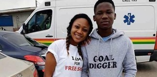 Rosemond Brown shares picture moment with Abraham Attah