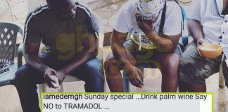 Say no to tramadol and drink palm wine - Edem