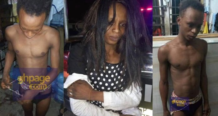 19-year-old gay boy dresses like a woman from Akatsi arrested in Accra