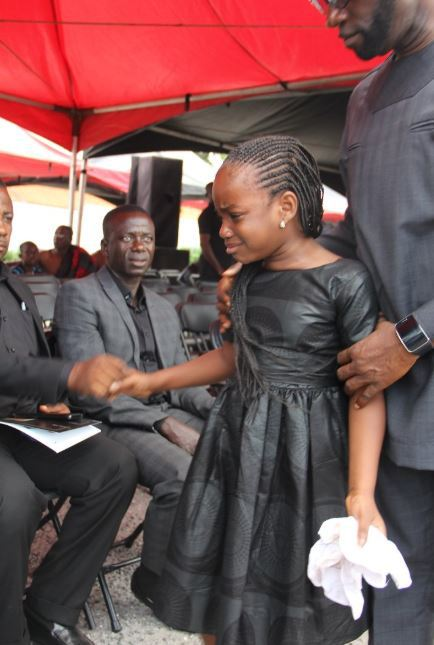 Kennedy Agyapong consoles daughter as she weeps at her mum-Stacy's burial