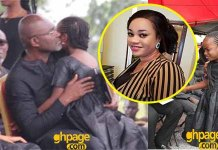 Kennedy Agyapong hugs daughter as cries bitterly at her mum's burial