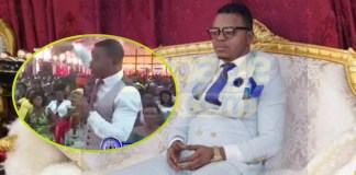 Angel Obinim teaches his congregation how to spot a fake prophet