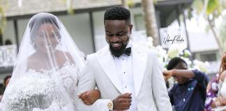 Here are the official photos from Sarkodie's white wedding