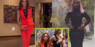 Shatta Michy advises Rosemond Brown at Ghana Football Awards 2018