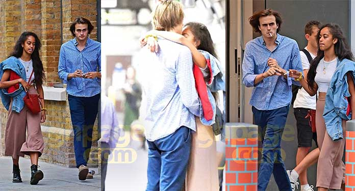 Malia Obama caught kissing and smoking cigarette on a date with her boyfriend