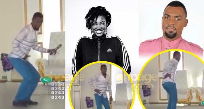 Rev Obofour dances and sings to Ebony Reigns' songs in church