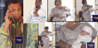Video:Mrs. Obofour showed massive hips and curves as she presents new baby in church and social media users 'can't think far'