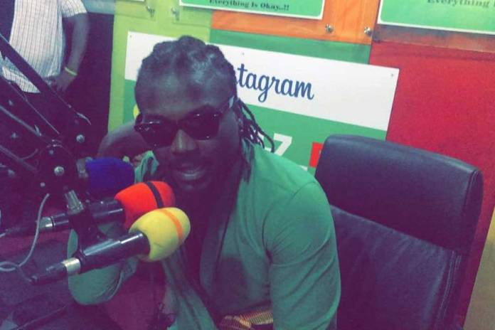 Samini walks out of Okay fm during live performance