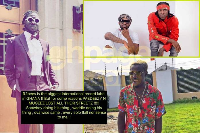 Showboy lashes out at R2bees and Criss Waddle
