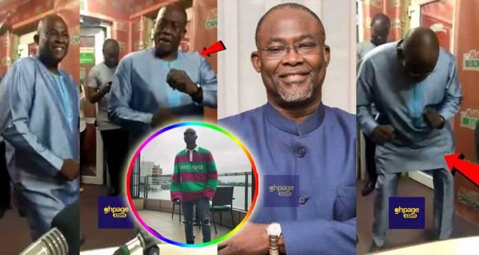 Dr. Spio Garbrah exhibits serious dance moves to King Promise's