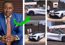 Osei Kwame Despite takes new toy out