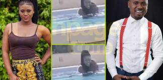 Abeiku Santana caught romancing eShun in a swimming pool