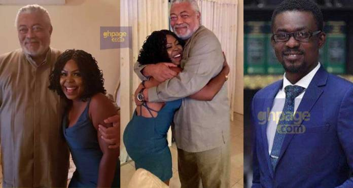 Afia Schwar visits Jerry John Rawlings - Reports NAM1 to him