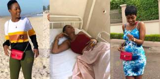 Last photo of Slay Queen, Charlotte Abena Woodey at the hospital before her death