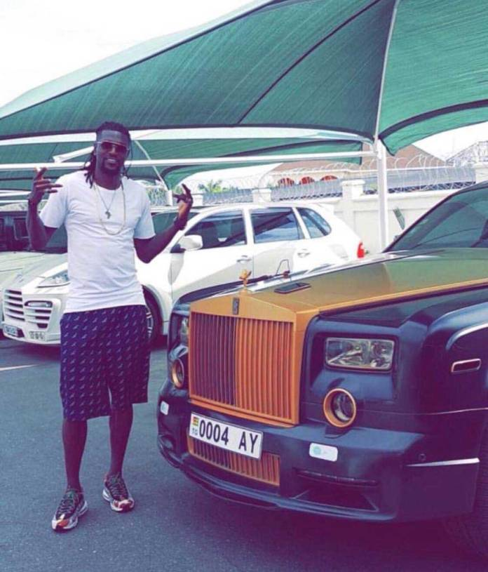 Emmanuel Adebayor cars 6 - Video of rich Adebayor drinking gari soakings causes stir on social media