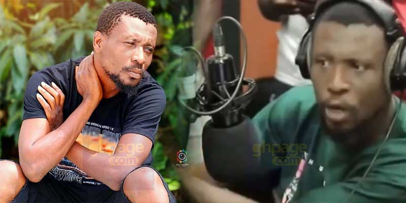 Okomfour Kwadee 'cries' and 'fights' radio show host for lack of appreciation