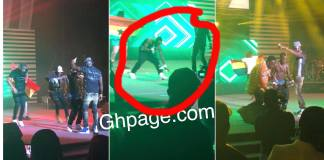 Patapaa stopped his stage performance to pick money on the floor