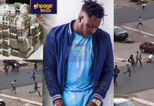 Money is sweet: AMG Medikal sprays dollar notes on Legon campus