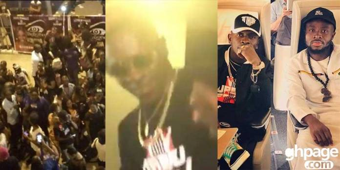 Massive fans welcomed Shatta Wale at KIA as he arrives from his Europe tour