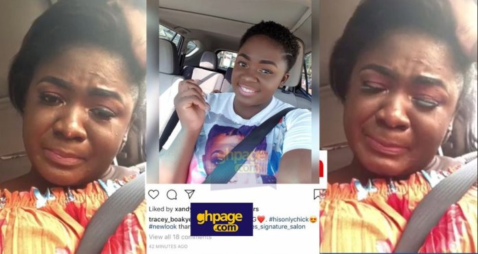 Actress Tracey Boakye confirms she actually cried like a baby because of her man