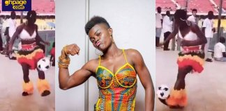 Wiyaala shows off her football skills and desire to join Black Queens
